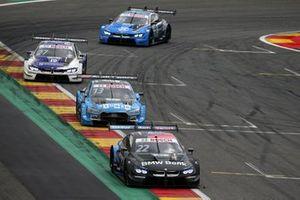 Lucas Auer, BMW Team RMG, BMW M4 DTM, Fabio Scherer, Audi Sport Team WRT, Audi RS 5 DTM, Jonathan Aberdein, BMW Team RBM, BMW M4 DTM