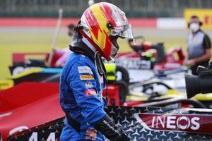 Carlos Sainz Jr., McLaren, arrives in Parc Ferme