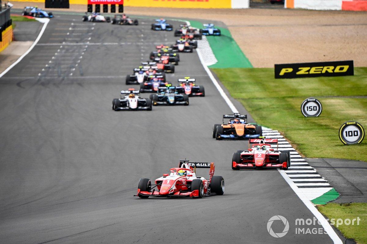 Oscar Piastri, Prema Racing, Frederik Vesti, Prema Racing e Alexander Peroni, Campos Racing