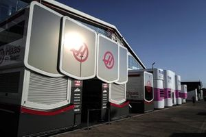 Haas Garage in the paddock