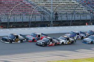 Brett Moffitt, GMS Racing, Chevrolet Silverado Christian Eckes, Kyle Busch Motorsports, Toyota Tundra Safelite AutoGlass Grant Enfinger, ThorSport Racing, Ford F-150 Farm Paint/Curb Records