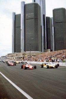 Alain Prost, Renault RE30B, Andrea de Cesaris, Alfa Romeo 182, Keke Rosberg, Williams FW08 Ford