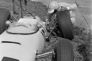 Trevor Taylor examines his BRP 1 BRM