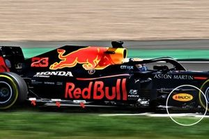 Detalle del fondo plano del Red Bull Racing RB16