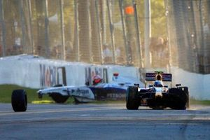 Accidents pour Robert Kubica, BMW Sauber F1.09, et Sebastian Vettel, Red Bull Racing RB5 Renault