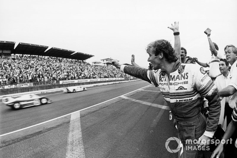 1983 Fuji 1000km: Race winners Derek Bell, Stefan Bellof, Rothmans Porsche 956