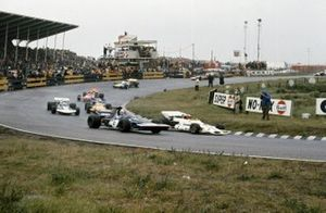 Jo Siffert, BRM P160, Francois Cevert, Tyrrell 002 Ford, Rolf Stommelen, Surtees TS9 Ford, Denny Hulme, McLaren M19A Ford, Nanni Galli, March 711 Ford, Graham Hill, Brabham BT34 Ford, Gijs van Lennep, Surtees TS7 Ford