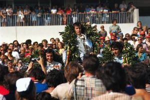 Jackie Stewart, Tyrrell 003 Ford, Francois Cevert, Tyrrell 002 Ford, Emerson Fittipaldi, Lotus 72D Ford
