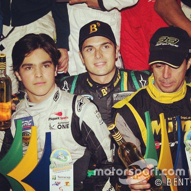 Pedro, Nelsinho e Rodrigo Piquet