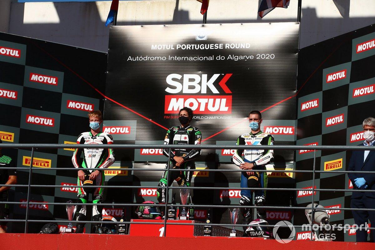 Jeffery Buis, MTM Kawasaki Motoport, Ana Carrasco, Kawasaki Provec WorldSSP300, Tom Booth-Amos, RT Motorsports by SKM - Kawasaki