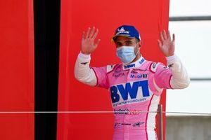Dylan Pereira, BWT Lechner Racing on the podium