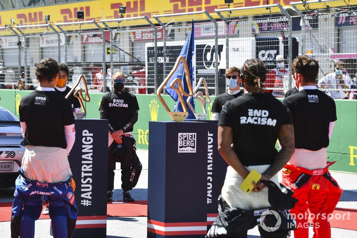 Lando Norris, McLaren, Carlos Sainz Jr., McLaren, Valtteri Bottas, Mercedes-AMG Petronas F1, Lewis Hamilton, Mercedes-AMG Petronas F1, Charles Leclerc, Ferrari