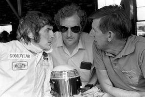 Jackie Stewart, Tyrrell, mit Derek Gardner und Ken Tyrrell