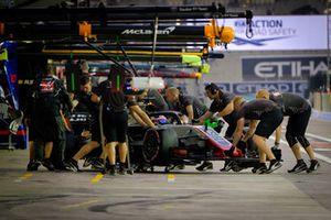 Romain Grosjean, Haas Ferrari pit stop