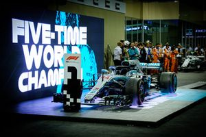 Lewis Hamilton, Mercedes AMG F1 car in parc ferme post the race