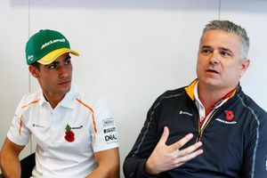 Gil de Ferran, Sporting Director, McLaren, announces Sergio Sette Camara to the media as the team's new test and development driver