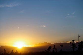Sunrise over Atlas Mountains
