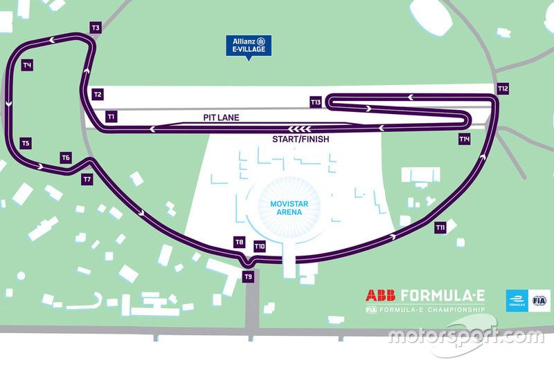 Streckenlayout: ePrix Santiago 2019