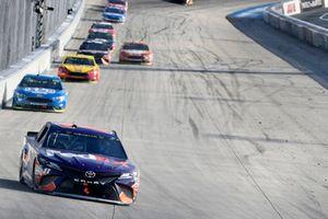 Denny Hamlin, Joe Gibbs Racing, Toyota Camry FedEx Express, Ryan Blaney, Team Penske, Ford Fusion PPG