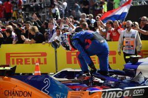 Pierre Gasly, Scuderia Toro Rosso, parc ferme
