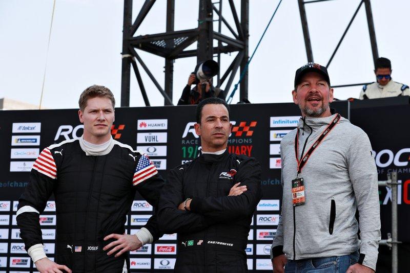 Josef Newgarden, Helio Castroneves et Fredrik Johnsson