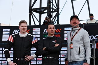 Josef Newgarden, Helio Castroneves and Fredrik Johnsson