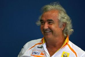 Flavio Briatore, Renault F1 Managing Director in the FIA Press Conference