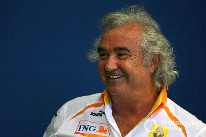 Flavio Briatore, Managing Director Renault F1, nella conferenza stampa FIA