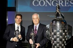 Will Power and Roger Penske receive their 'Baby Borgs' from BorgWarner president and CEO Fred Lissalde