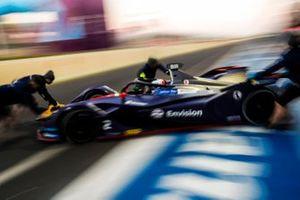 Sam Bird, Envision Virgin Racing, Audi e-tron FE05, viene riportato nel garage