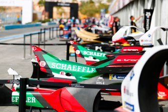 Audi Sport ABT Schaeffler bodywork in the pit lane