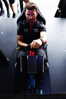 Jose Maria Lopez, GEOX Dragon Racing, on the eRace simulators