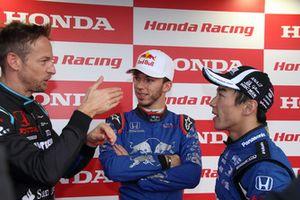 ジェンソン・バトン、ピエール・ガスリー、佐藤琢磨(Honda Racing THANKS DAY 2018)