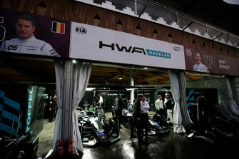 The HWA Racelab garages