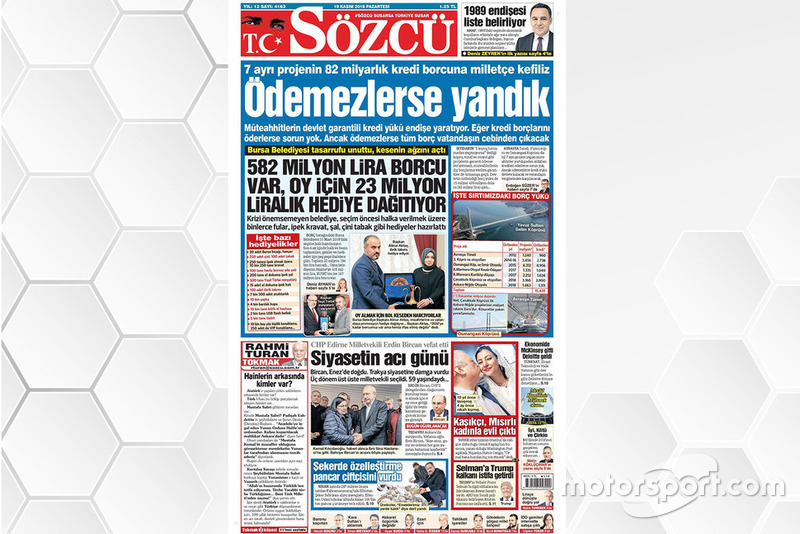 19 Kasım 2018 - Can Öncü haberini gazeteler nasıl gördü?
