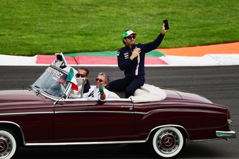 Sergio Perez, Racing Point Force India F1 Team on the drivers parade