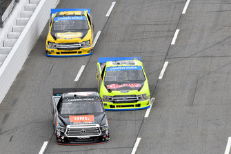 Todd Gilliland, Kyle Busch Motorsports, Toyota Tundra JBL/SiriusXM, Matt Crafton, ThorSport Racing, Ford F-150 Chi-Chis/Menards, Grant Enfinger, ThorSport Racing, Ford F-150 Protect the Harvest
