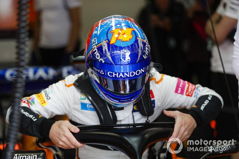 Fernando Alonso, McLaren en su asiento