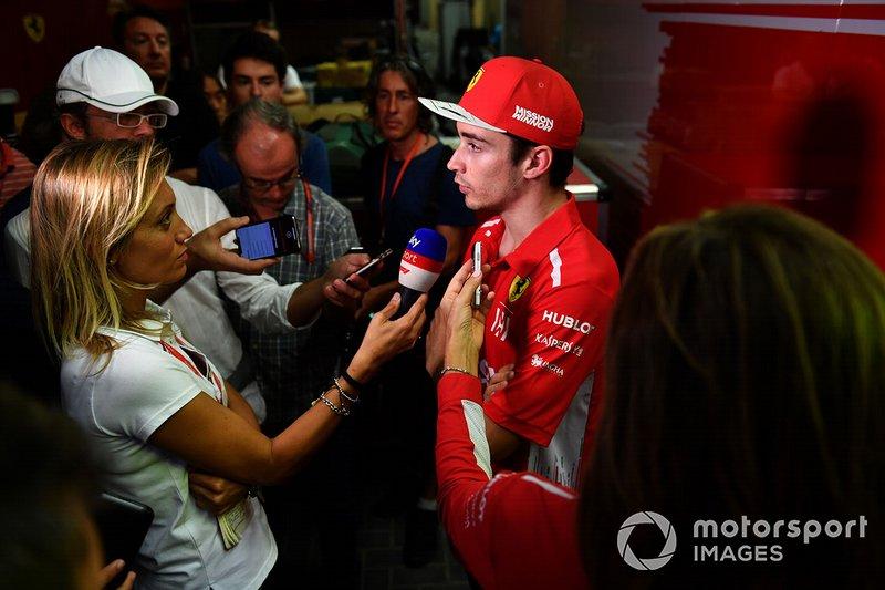Charles Leclerc, Ferrari con los medios