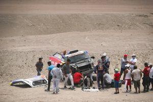#300 X-Raid Mini JCW Team: Carlos Sainz, Lucas Cruz, dopo l'incidente