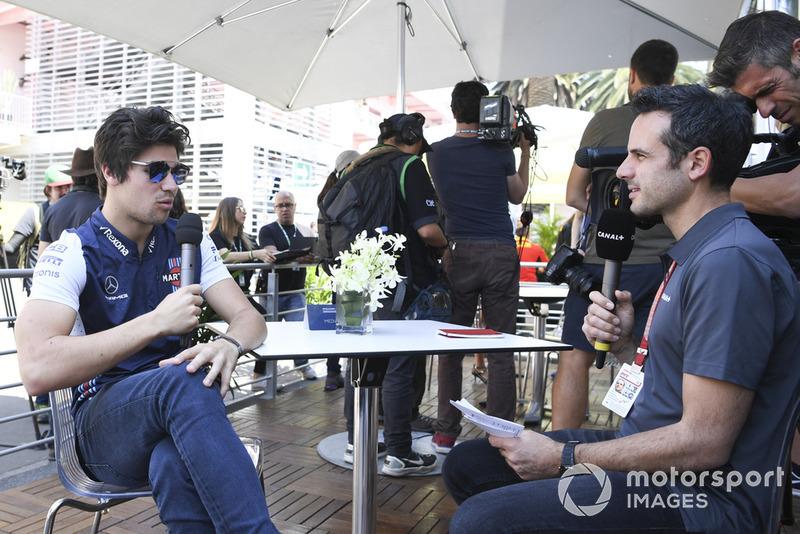 Lance Stroll, Williams Racing con los medios
