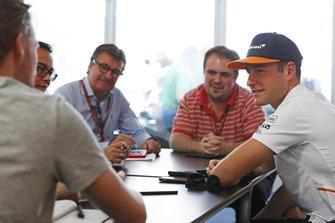Stoffel Vandoorne, McLaren, gives an interview