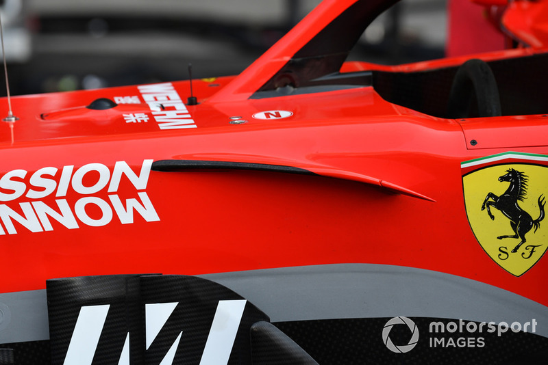 Ferrari SF71H nose aero detail