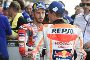 Polesitter Marc Marquez, Repsol Honda Team, Andrea Dovizioso, Ducati Team