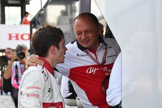 Charles Leclerc, Sauber ve Frederic Vasseur, Sauber, Takım Patronu