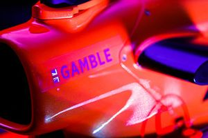 The name of Tom Gamble is applied to the McLaren F1 car