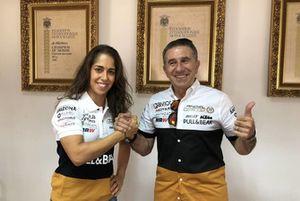 Nico Terol, María Herrera, Ángel Nieto Team