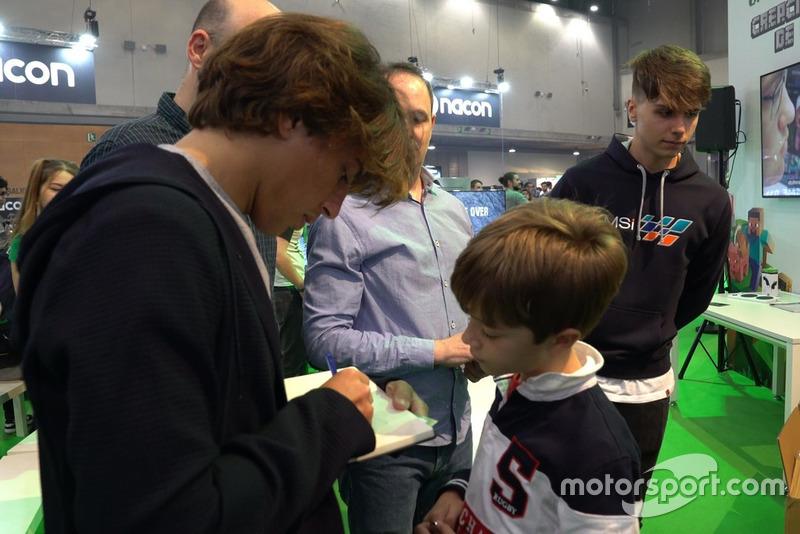 Roberto Merhi, en la Madrid Games Week