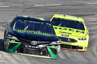 J.J. Yeley, BK Racing, Toyota Camry Adirondack Tree Surgeons, Ryan Blaney, Team Penske, Ford Fusion Menards/Moen