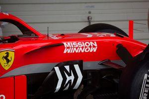 L'abitacolo della Ferrari SF71H, con la nuova livrea Ferrari